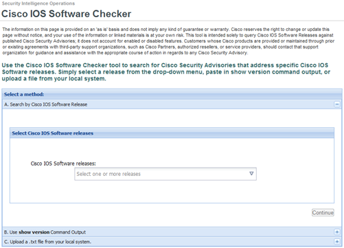 Cisco IOS Checker
