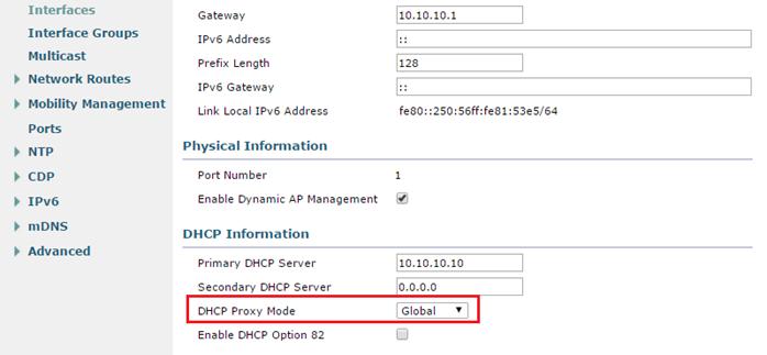 WLC External DHCP