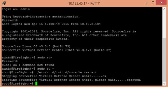 Reload Restart Shutdown Cisco Firesight Brainwork