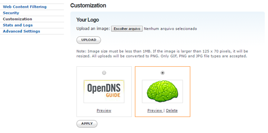 OpenDNS Customization