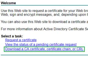 Salve o certificado da CA