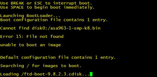 ASA booting FTD Image