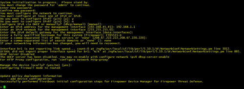 Change the password and configure FTD