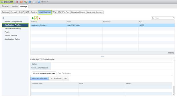 NSX App Profile