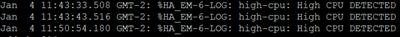 EEM - Logs High CPU
