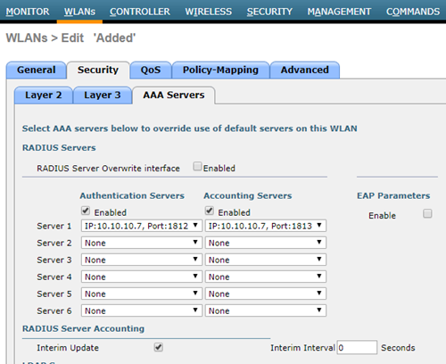 WLC - AAA Server